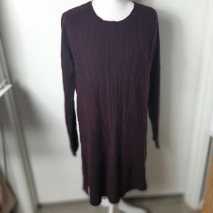 Max studio cable knit sweater dress M